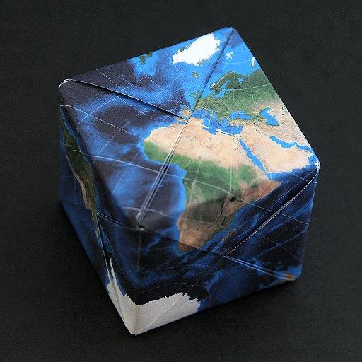 折り紙 立方体 地球